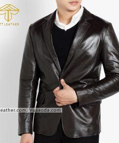 o vest da nam đẹp 1 áo da thật , áo da nam